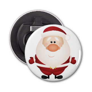 Hugs from Santa Claus Bottle Opener