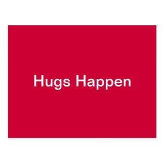 Hugs Happen Postcard
