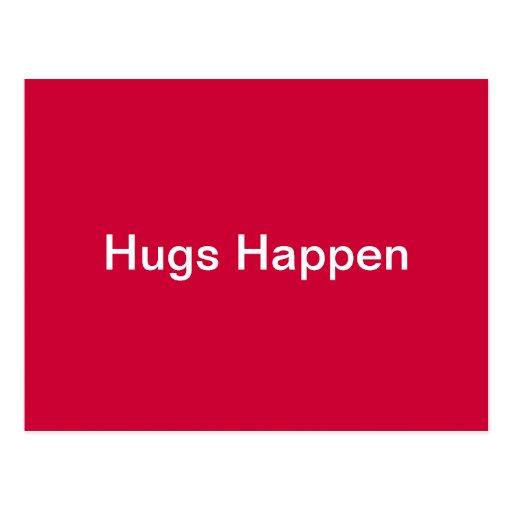 Hugs Happen Post Cards