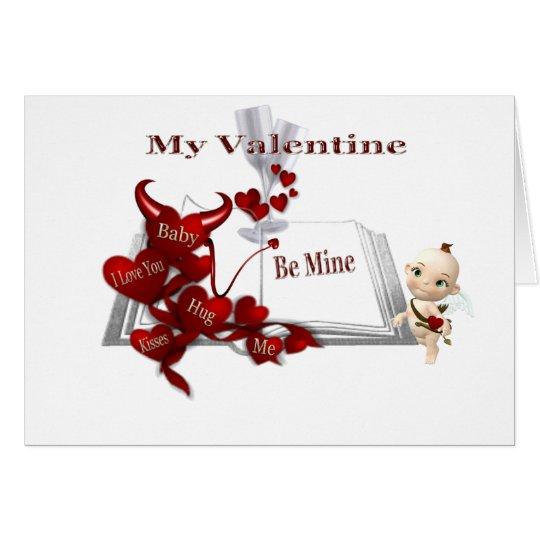hugs kiss me, cupid card