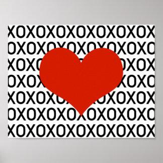 Hugs, Kisses & a Big Heart Poster
