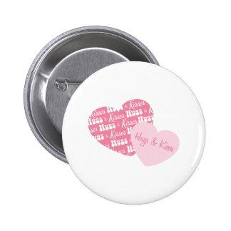 Hugs & Kisses Buttons