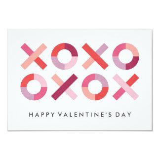 Hugs + Kisses Classroom Valentine - Blush 9 Cm X 13 Cm Invitation Card