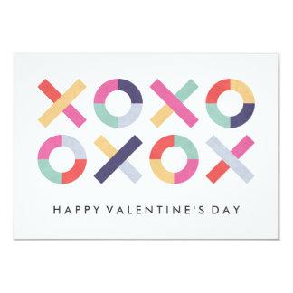 Hugs + Kisses Classroom Valentine - Powder 9 Cm X 13 Cm Invitation Card
