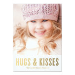 Hugs & Kisses | Valentine's Day Photo Card 13 Cm X 18 Cm Invitation Card