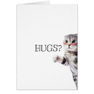 HUGS? Kitten Card