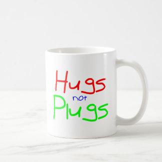 Hugs not Plugs (Red) Basic White Mug