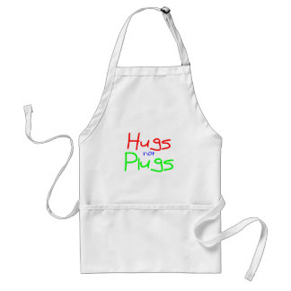 Hugs not Plugs (Red) Standard Apron