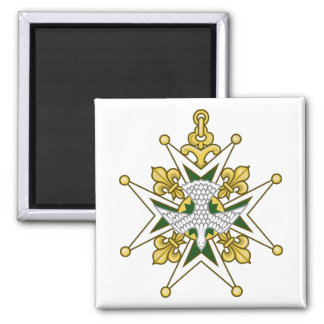 Huguenot Cross Square Magnet