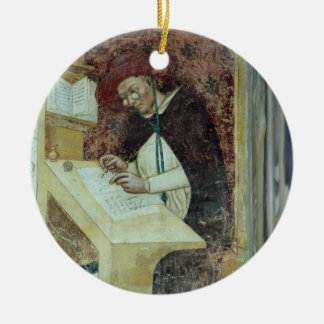 Hugues de Provence at his Desk, from the Cycle of Round Ceramic Decoration