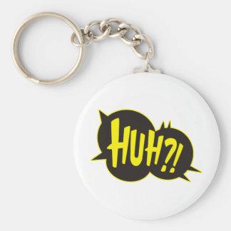 Huh Cartoon Boom Splat Basic Round Button Key Ring