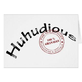 huhudious greeting card