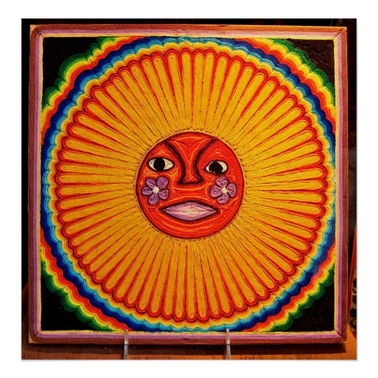 Huichol String Art,Mexico Large Photo on Canvas Poster