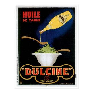 Huile De Table Dulcine Vintage Food Ad Art Postcard