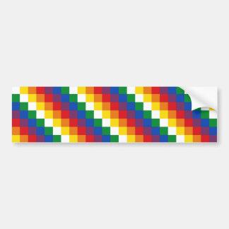 Huipala/Wipala Flag. Andean Qulla Suyu. Bolivia Bumper Sticker