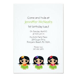 "hula cutie BIRTHDAY PARTY invitation 5"" X 7"" Invitation Card"