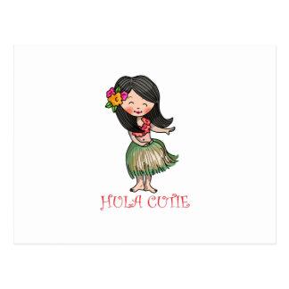 Hula Cutie Postcard