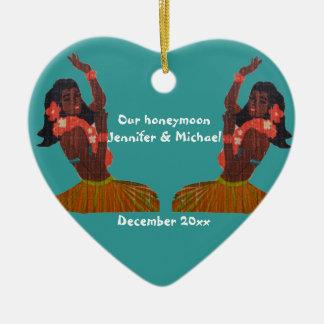 Hula Dancer Aloha Honeymoon Souvenir Christmas Ornament