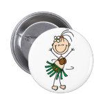 Hula Dancer Button