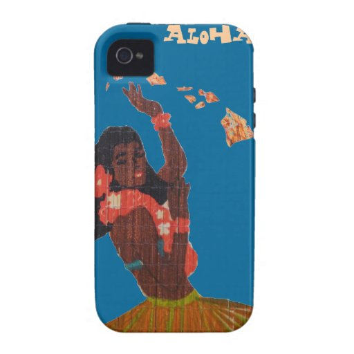 Hula Dancer Hawaiian Islands Map Case-Mate iPhone 4 Covers