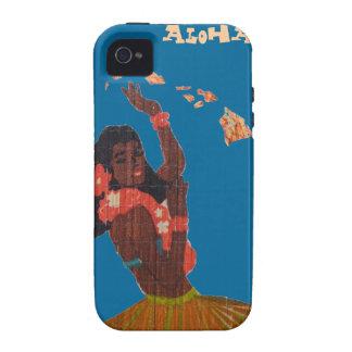 Hula Dancer Hawaiian Islands Map iPhone 4 Case