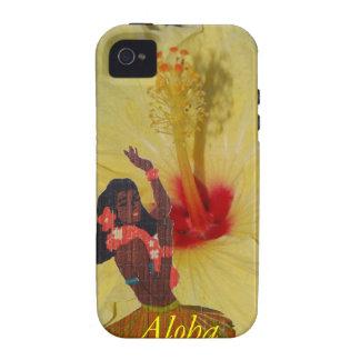 Hula Dancer Hawaiian Plumeria Case-Mate iPhone 4 Case