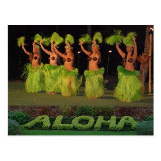 Hula dancers post cards