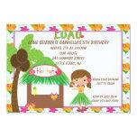 Hula Girl at Tiki Hut Birthday Invitation 13 Cm X 18 Cm Invitation Card