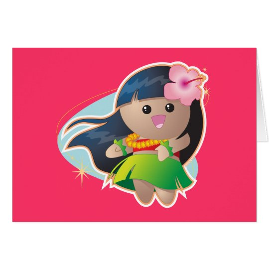 Hula Girl Greeting Card