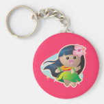 Hula Girl Key Chains
