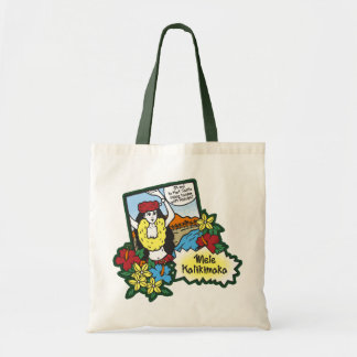 Hula Girl Mele Kalikimaka Hawaiian Xmas Cartoon Tote Bag