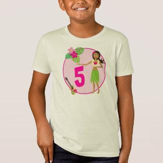 Hula Girl Personalized Age Birthday T-shirt