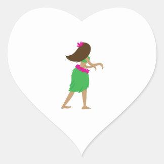 Hula Girl Stickers