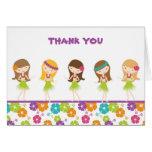 Hula Girl Thank You Carl Note Card