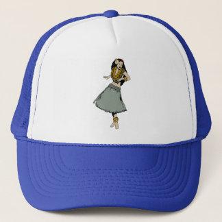 Hula Girl Trucker Hat