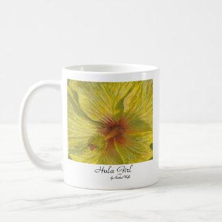 Hula Girl (Yellow Hibiscus) Mug
