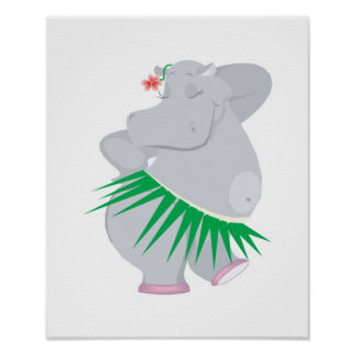 hula hippo posters