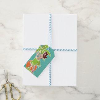 Hula Honey - Aqua - Gift Tag