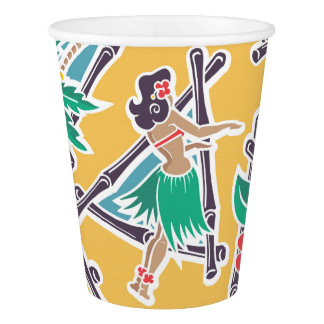 Hula Honey - Yellow - Paper Cups