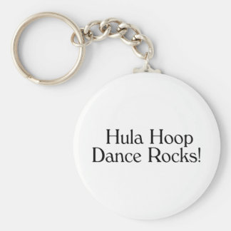 Hula Hoop Dance Rocks Basic Round Button Key Ring