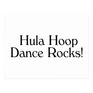 Hula Hoop Dance Rocks Postcard