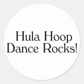 Hula Hoop Dance Rocks Round Sticker