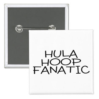 Hula Hoop Fanatic 15 Cm Square Badge