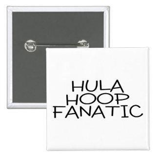 Hula Hoop Fanatic Pinback Buttons