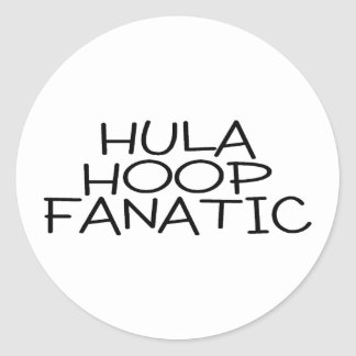 Hula Hoop Fanatic Round Sticker