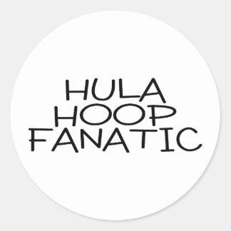 Hula Hoop Fanatic Round Sticker