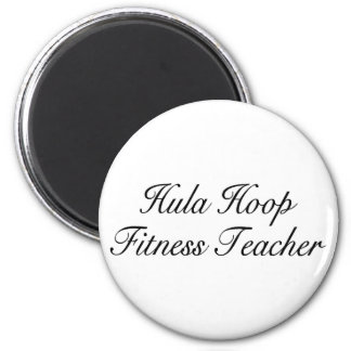 Hula Hoop Fitness Teacher 6 Cm Round Magnet