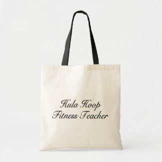 Hula Hoop Fitness Teacher Budget Tote Bag