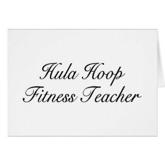 Hula Hoop Fitness Teacher Greeting Card