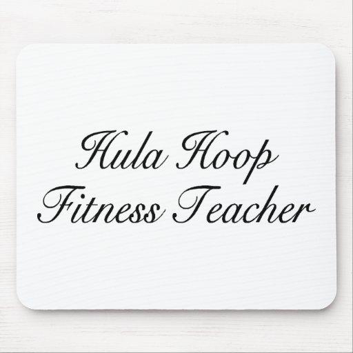 Hula Hoop Fitness Teacher Mouse Pads